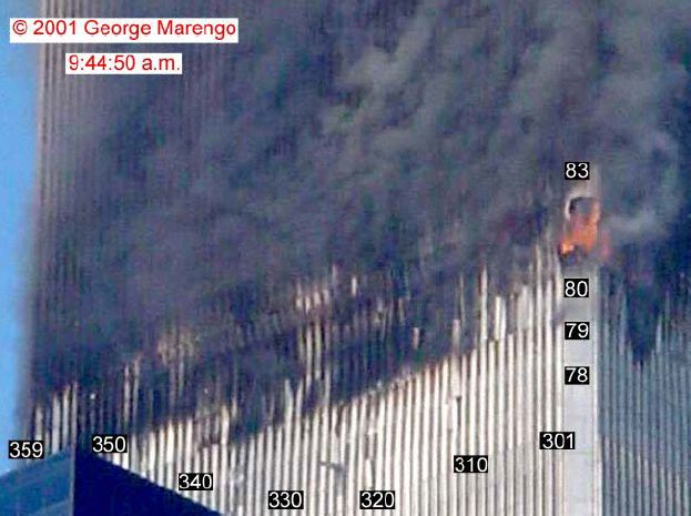 Pictures Of The South Tower Show That Floor Was At Base Fire Affected Area You Can Click For A Larger Image